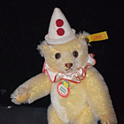 Vintage Teddy Bear Doll Toy Teddy Clown Steiff W/ Button
