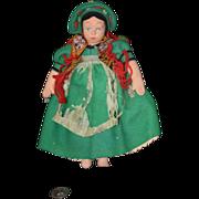 Antique Doll Lenci Mascotte Felt Cloth