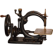 Antique Miniature Sewing Machine Wilcox & Gibbs Cast Iron