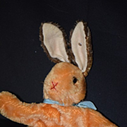 Old Steiff Rabbit Mohair Puppet W/ Button