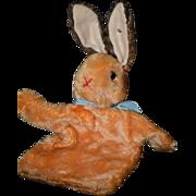 Old Steiff Rabbit Mohair Puppet W/ Button