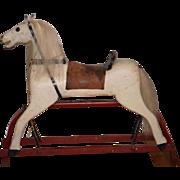 Antique Doll Wood Rocking Horse Unusual Glider Saddle