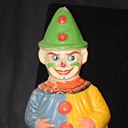 Antique Doll Papier Mache Clown Roly Poly W/ Moving Googly Jester