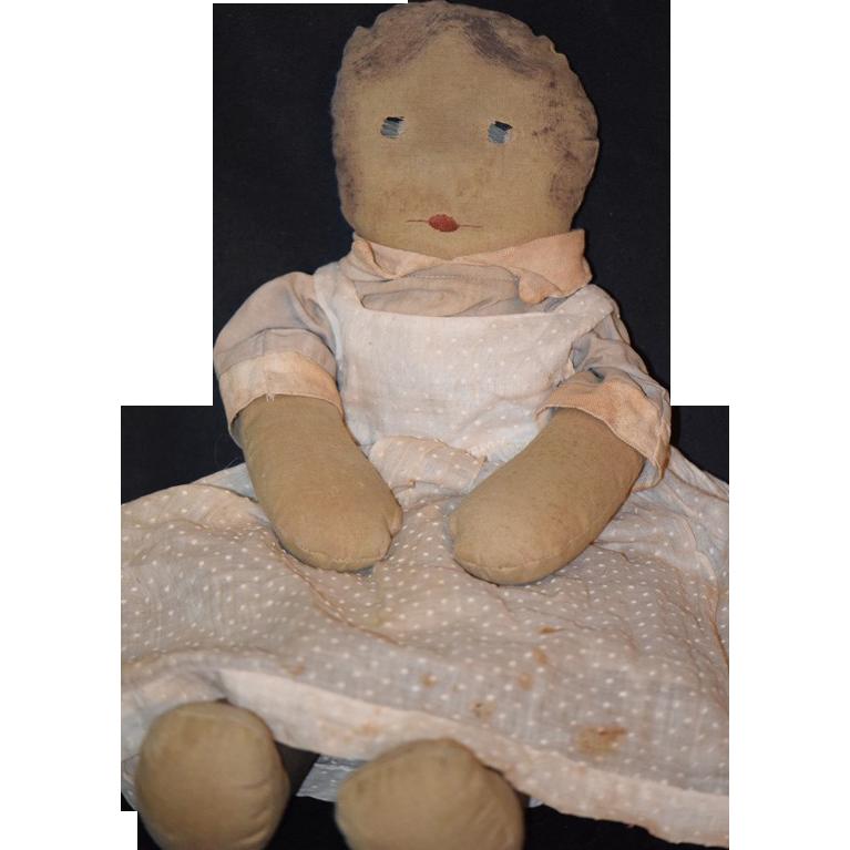 Antique Doll Cloth Rag Folk Art Primitive Unusual From
