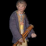 Antique Doll Terra-Cotta Creche Original Clothes