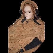 Antique Doll Bed Doll Boudoir Pillow Unusual Papier Mache Cloth