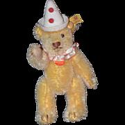 Vintage Steiff Teddy Bear Miniature For Doll or Dollhouse Clown