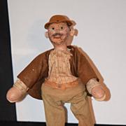 Antique Doll Schoenhut Wood Carved Man Circus
