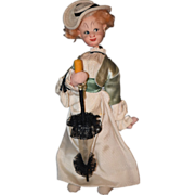 Old Doll Klumpe Cloth Lady Doll w/ Accessory Character
