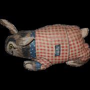 Antique Doll Rabbit Cloth Deans Rag Knock about Toys Wonderful