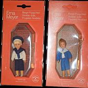 Vintage Doll Erna Meyer German Miniature Dollhouse In Package