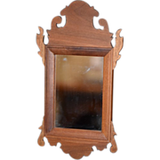 Vintage Doll Miniature Mirror Fred Laughon Walnut Ornate