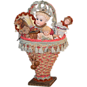 Dolls in a Basket Bisque China Head Old Dolls Betty Bohacz Doll Artist