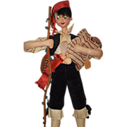 Vintage Doll Klumpe Cloth Wonderful W/ Instrument