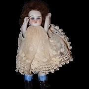 Antique Doll Miniature All Bisque Dollhouse