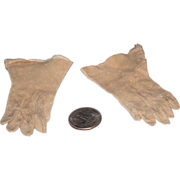 Antique Doll Leather Long Gloves For Fashion Doll