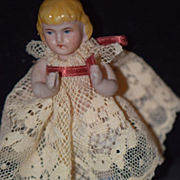 Antique Doll Miniature China Head Dollhouse Girl Adorable