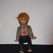 Old Doll Monkey Unusual Schuco Miniature Jointed Felt Doll Toy