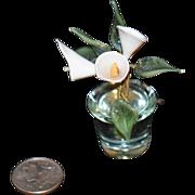 Vintage Miniature Doll Flower Plant Glass For Dollhouse