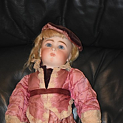 Antique Doll Sonneberg French Market Old Clothes Closed Mouth