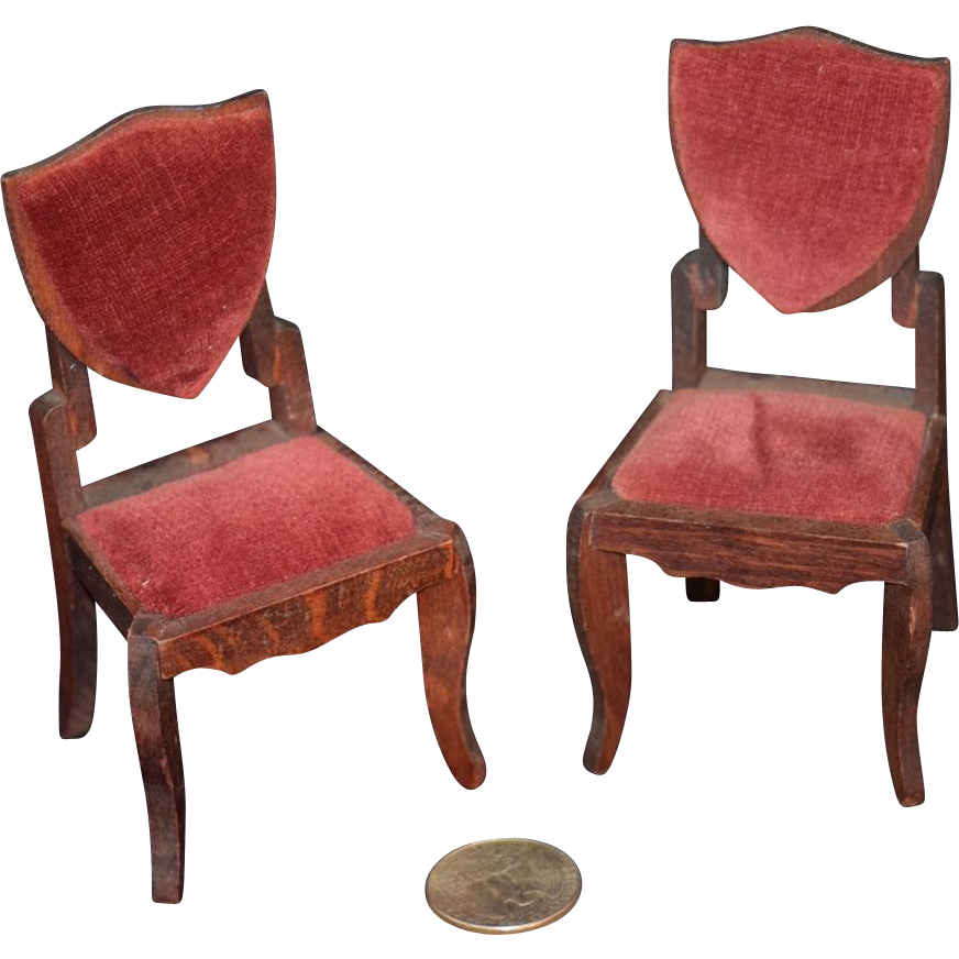 antique doll miniature german chair set wonderful