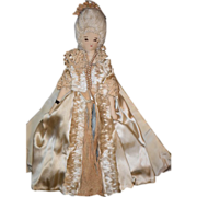 Old Doll Cloth Fancy Victorian Lady