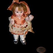 Antique Doll Miniature All Bisque Kestner Original Clothing Sweet