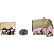 Old Doll Miniature Dollhouse Cottage Wade England Porcelain