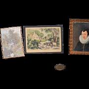 Old Doll Miniature Pictures Frame Frames Wonderful Dollhouse M. Visser