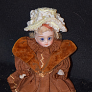 Antique Doll Mignonette All Bisque Swivel Head French Market Yellow Boots Dollhouse