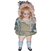 Antique Doll Miniature All Bisque Doll Dollhouse French Market