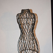 Old Doll Dress Form Mannequin For Fashion Doll Miniature Ornate Display Clothing Wire Stand