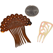 Old Doll Miniature Hair Combs Hair Jewelry and Coral Necklace for Fashion Doll Accessories
