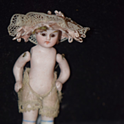 Antique Doll Miniature French Market Dollhouse Jointed