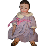 Antique Doll Alabama Rag Baby Cloth Doll Adorable W/ Rare Yellow Boots