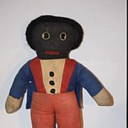 Antique Doll Cloth Golliwog Gollywog Black Cloth Doll Wonderful