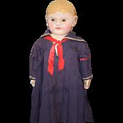 Antique Doll Philadelphia Baby Sheppard Baby Oil Cloth Dressed WONDERFUL