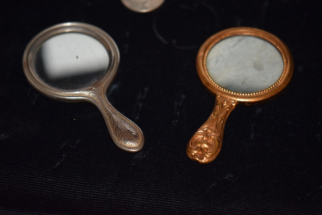 Old Doll Miniature Fashion Doll Hand Mirror Set Fancy From