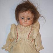 Antique Doll Papier Mache Glass Eyes Paper Mache Sweet Girl