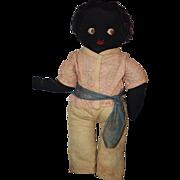 Old Doll Black Cloth Folk Art Unusual