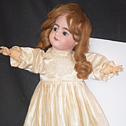 Antique Doll French Bisque SFBJ Depose Wind- Up Clockwork Walker Body with Flirty Eyes Gorgeous