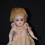 Antique Doll Miniature All Bisque Pink Socks Dollhouse Adorable