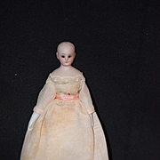 Antique Doll Miniature Dollhouse Lady Bisque Glass Eyes