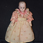Antique Doll Miniature Bisque Solid Dome Dollhouse Glass Eyes