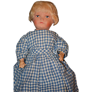 Antique Doll Unusual Painted Bisque Composition Body Looks like a Kathe Kruse