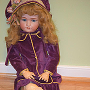 Antique Doll Jutta  Bisque Simon & Halbig 1348 Big Girl Dressed