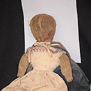 Antique Doll Cloth Folk Art Primitive Early Unusual Rag Doll