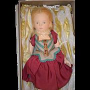 Wonderful R. John Wright Doll UFDC Artist Limited Edition Mint in Box Cloth Doll Felt