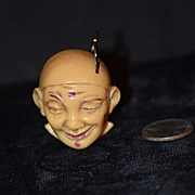 Antique Miniature Jester Clown Measuring Tape Crank Style Sewing