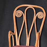 Antique Doll Miniature Bentwood Chair Rocker For Cloth China or Fashion Doll